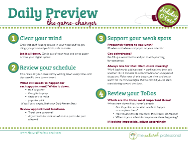 Daily Preview Holiday Version