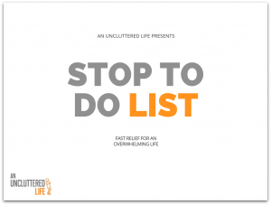 Betsy Talbot - stop to do list